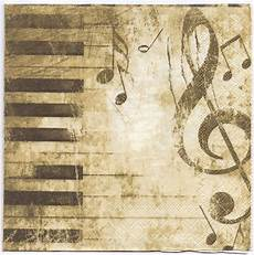 Music On Paper Decoupage Napkins Of Classical Music Piano Keys Music