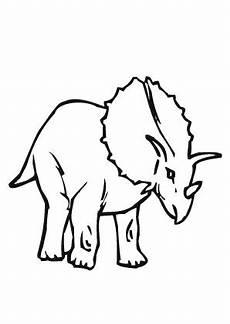 ausmalbilder gieriger triceratops dinosaurier malvorlagen