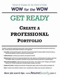 Work Portfolio How To Create A Professional Job Search Portfolio Resume