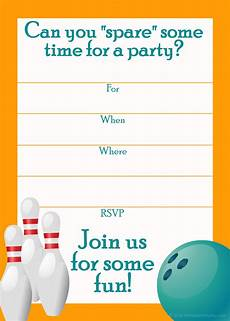Free Printable Bowling Party Invitations For Kids Free Printable Sports Birthday Party Invitations Templates