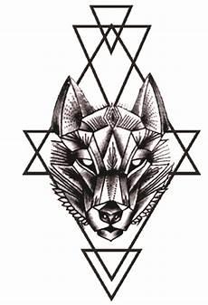 pin de tatuagem em animais geom 233 trico tatuagem de lobo