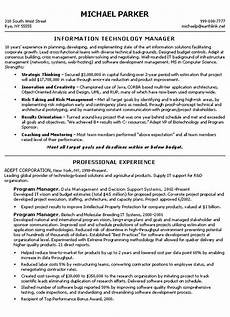 Resume Technical Summary Technical Manager Resume Example
