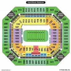 Hard Rock Miami Seating Chart Hard Rock Stadium Seating Chart Seating Charts Amp Tickets