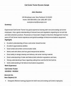 Resume For A Call Center Agent Call Center Resume Example 11 Free Word Pdf Documents