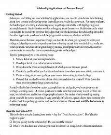 Good Scholarship Essays Free 7 Sample Scholarship Essay Templates In Pdf