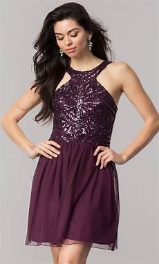 eggplant purple homecoming dress promgirl