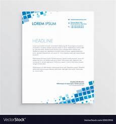 Creative Letterhead Samples Abstract Blue Creative Letterhead Design Vector Image