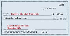 How To Write A Check Scarlet Anchor Society Navy Rotc