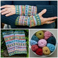 fair isle cuffs pattern by julie williams tricot et
