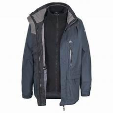 3 in 1 mens coats trespass edgewater mens 3 in 1 fleece winter 3in1