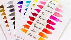 Zig Real Brush Color Chart Zig Clean Color Real Brush Pens Intro Youtube