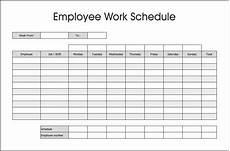 Staff Schedule Template Weekly 10 Best Free Printable Blank Employee Schedules