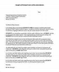 Letter Of Recommendation For Principals Free 9 Example Of Recommendation Letters Samples In Pdf
