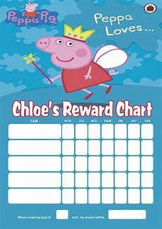Peppa Pig Sticker Reward Chart Personalised Peppa Pig Reward Chart Adding Photo Option