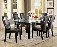 glass dining room sets phyllis walnut rectangular glass top dining room set