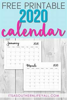 Personal Calendars 2020 Free Printable 2020 Calendar It S A Southern Life Y All