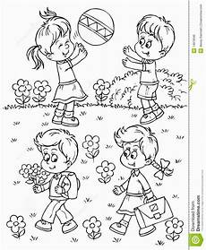 Malvorlagen Spielende Kinder Playground Coloring Pages Summer Coloring Pages