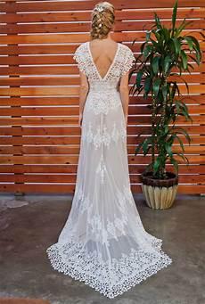 azalea boho cotton lace wedding dress dreamers and