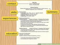 How To Write A Resum How To Write A Technical Resume 15 Steps With Pictures