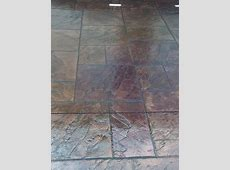 Stamped concrete restoration using Smith Paints   Cement patio, Stamped concrete, Concrete steps