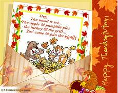 thanksgiving greeting cards for business template a special thanksgiving invite free dinner ecards