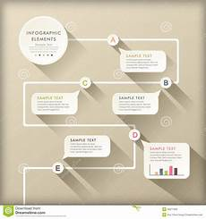 Flow Chart Design Abstract Flow Chart Infographics Stock Vector