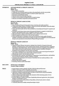 Physiotherapy Resume Sample 12 Resume Objective Examples For Physical Therapist