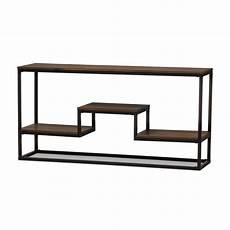 black metal sofa table echelon narrow console table