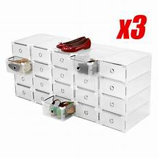 clear 60x shoe storage box plastic drawer cabinet home