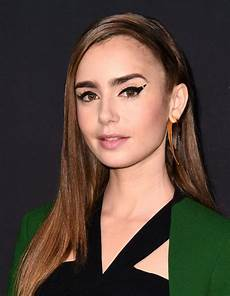 lily collins wears graphic eyeliner to 2018 instyle
