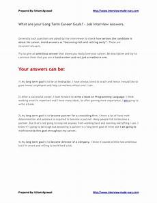Long Term Professional Goals What Are Your Long Term Career Goals Interview Answers