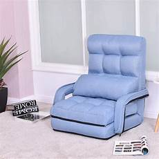 folding lazy floor chair sofa with armrests and pillow