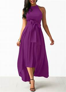 purple cardigan and high waist belted dress rosewe