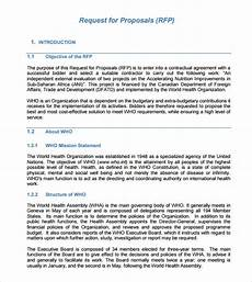 Rfp Templates Word Free 8 Sample Rfp Templates In Pdf Ms Word