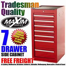 maxim 7 drawer side cabinet tool box chest toolbox storage