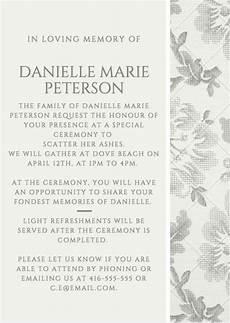 Funeral Invitation Sample Funeral Invitation Example 1