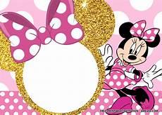 Minnie Mouse Invitation Template Free Free Pink And Gold Minnie Mouse Invitation Templates