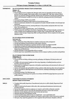 Production Supervisor Resume Samples 23 Production Supervisor Resume Examples In 2020 Human