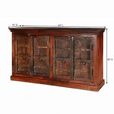 willamette brown solid wood rustic 4 door buffet cabinet