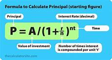 Principle And Interest Calculator Compound Interest Formula With Examples