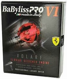 Babyliss Pro V1 Volare Ferrari Designed Engine Hair Dryer Babfv1 Babyliss Pro Volare V1 Full Size Dryer Ferrari