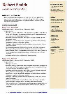 Home Health Care Resume Home Care Provider Resume Samples Qwikresume