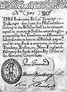 Currency Act Of 1751 Words And Text