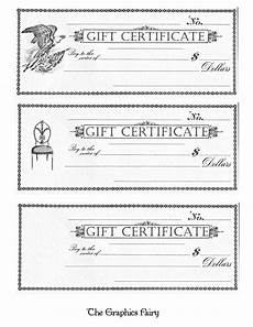 Gift Certificate Prints Free Printable Gift Certificates The Graphics Fairy