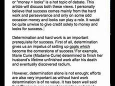 Essay On Hard Work 47 Success Is Because Of Hard Work And Determination Or
