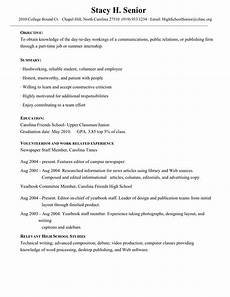 College Resume Examples For High School Seniors Junior High School Student Resume Templatescoverletters Com