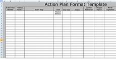 Action Plans Templates Excel Action Plan Format Template Free Excel Spreadsheet Templates