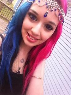 Half Pink Half Blue Half Pink Half Blue Hair By Savannahxsinister On