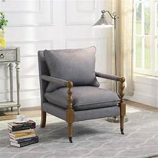decorative accent chairs grey accent chair w decorative casters by coaster