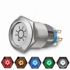 How To Fix Dome Light Switch 19mm 12v Led Ip65 Push Button On Off Dome Light Switch